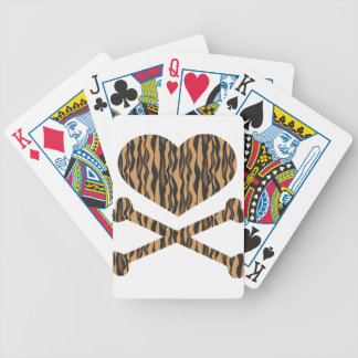heart and crossbones tiger bicycle playing cards