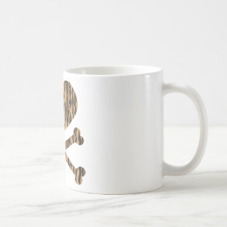 heart and crossbones tiger coffee mug
