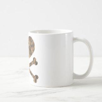 heart and crossbones tiger coffee mugs