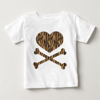 heart and crossbones tiger shirts