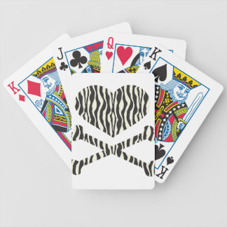 heart and crossbones zebra stripes bicycle playing cards