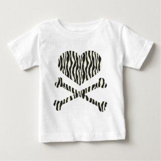 heart and crossbones zebra stripes tshirts