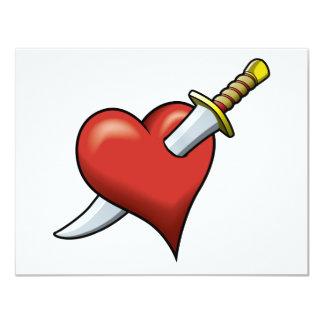 Heart and Dagger Card