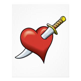 Heart and Dagger Letterhead