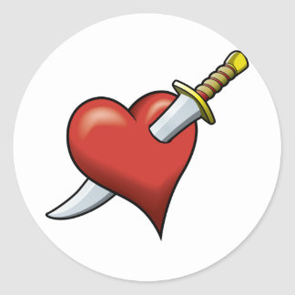 Heart and Dagger Stickers
