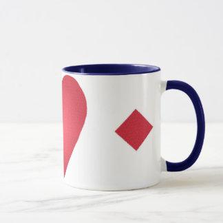 heart and diamonds coffee cup