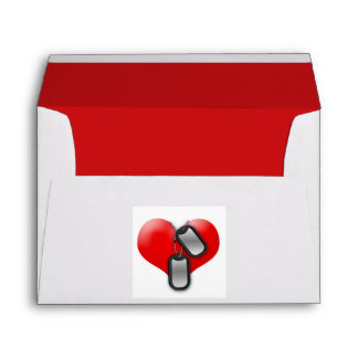 Heart and Dog Tags Envelope