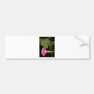 Heart and Flower Bumper Sticker