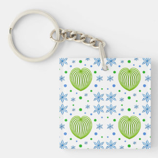 Heart and Flower Medley Keychain