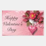 Heart and Flower Valentine Sticker