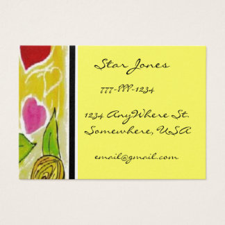 Heart and Flowers Business Card