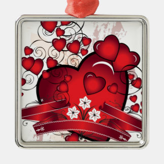 Heart and Full of Love in Valentines Metal Ornament
