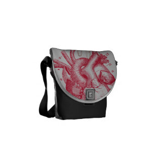 Heart and Hand - anatomy Courier Bags