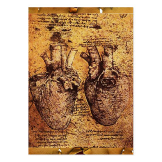 Heart And Its Blood Vessels Antique Parchment Business Card Templates