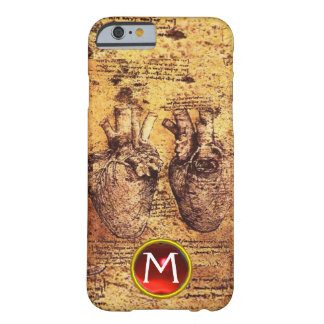 Heart And Its Blood Vessels Parchment Gem Monogram Barely There iPhone 6 Case