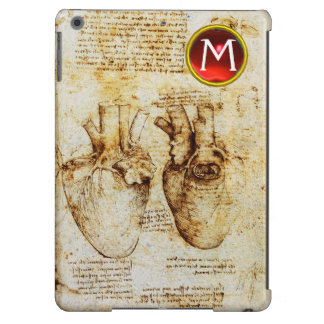 Heart And Its Blood Vessels Parchment Gem Monogram Case For iPad Air