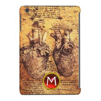 Heart And Its Blood Vessels Parchment Gem Monogram iPad Mini Retina Covers