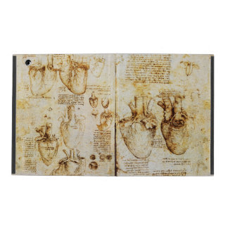 Heart And Its Blood Vessels Parchment iPad Folio Cases