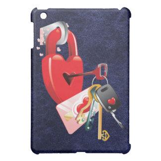 Heart and Keys iPad Case