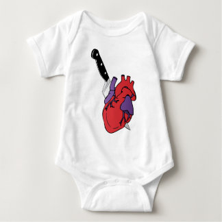 heart and knife baby bodysuit