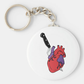 heart and knife key chains
