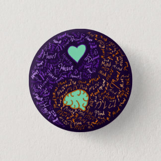 Heart and Mind Yin-Yang Pinback Button