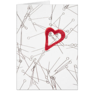 Heart and needles card