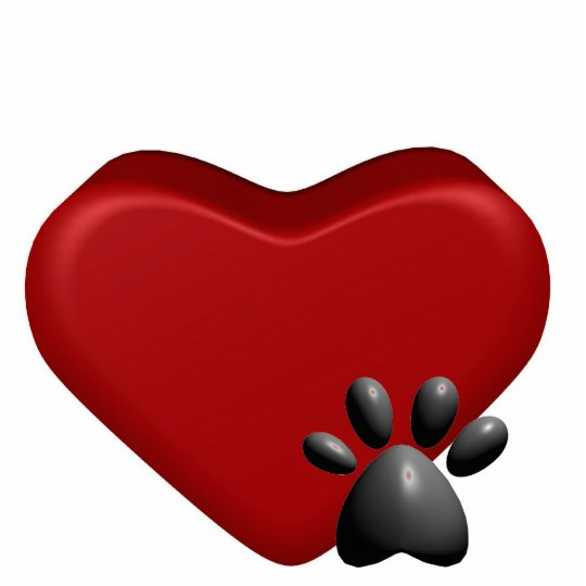 Heart and Paw Cutout