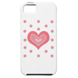 HEART AND POLKA DOTS iPhone 5 CASE