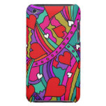 Heart and Rainbow Pattern Barely There iPod Covers