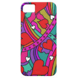 Heart and Rainbow Pattern iPhone 5 Cover