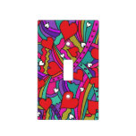 Heart and Rainbow Pattern Light Switch Cover