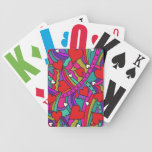 Heart and Rainbow Pattern Poker Cards