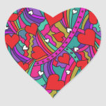 Heart and Rainbow Pattern Sticker