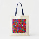 Heart and Rainbow Pattern Tote Bag
