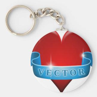 Heart and ribbon remix love keychain