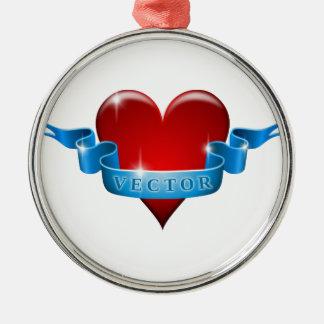 Heart and ribbon remix love ornaments