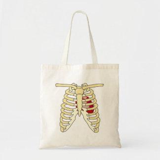 Heart and Ribs Tote Bag