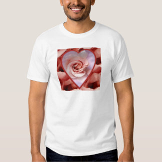 Heart and rose t shirt