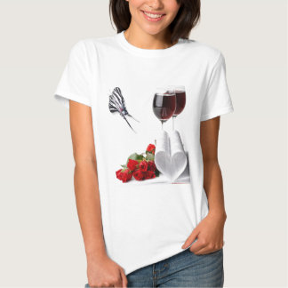 Heart and Roses Baby Doll T T-shirt