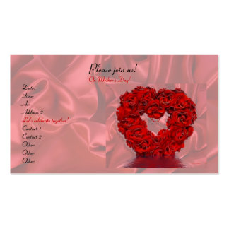 Heart and Roses Double-Sided Standard Business Cards (Pack Of 100)
