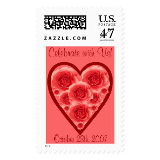 Heart and Roses Stamp