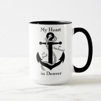 Heart and soul anchored in Denver Mug