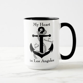 Heart and soul anchored in Los Angeles Mug
