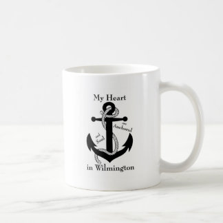 Heart and soul anchored in wilmington coffee mug