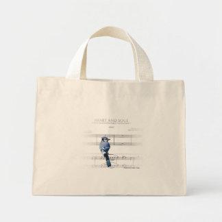Heart and Soul - Blue Jay Mini Tote Bag