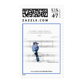 Heart and Soul - Blue Jay Stamp