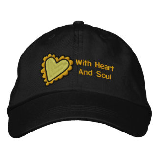 Heart and Soul Embroidered Hat