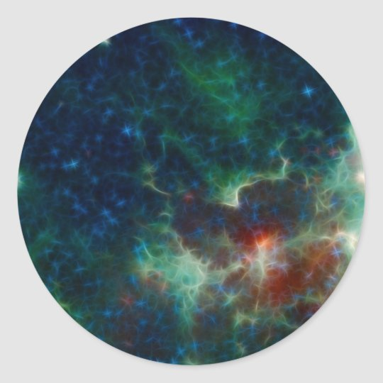 Heart And Soul Nebula Classic Round Sticker