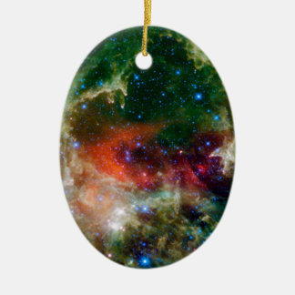Heart and Soul Nebula NASA Ceramic Ornament